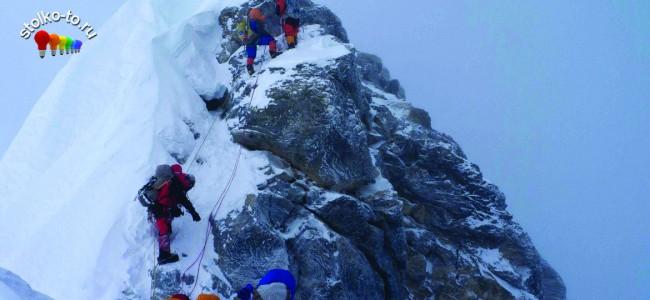 Сколько км гора Эверест